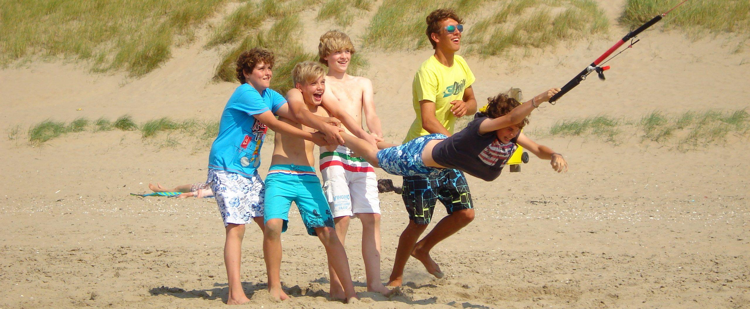 kinderpartijtjes op het Noordwijkse strand